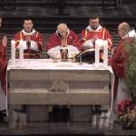 Msza święta konwentualna, jubileuszowa w 65 rocznicę święceń kapłańskich O. Leona Knabita. 26 grudzień 2018 r